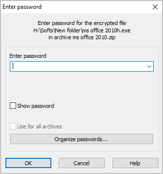 Enter Password to Extract